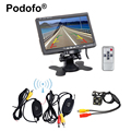 "Wireless Parking Assist System HD Waterproof Backup Reverse Night Vision Rear View camera + 7"" TFT LCD Monitor Kit For Universal"