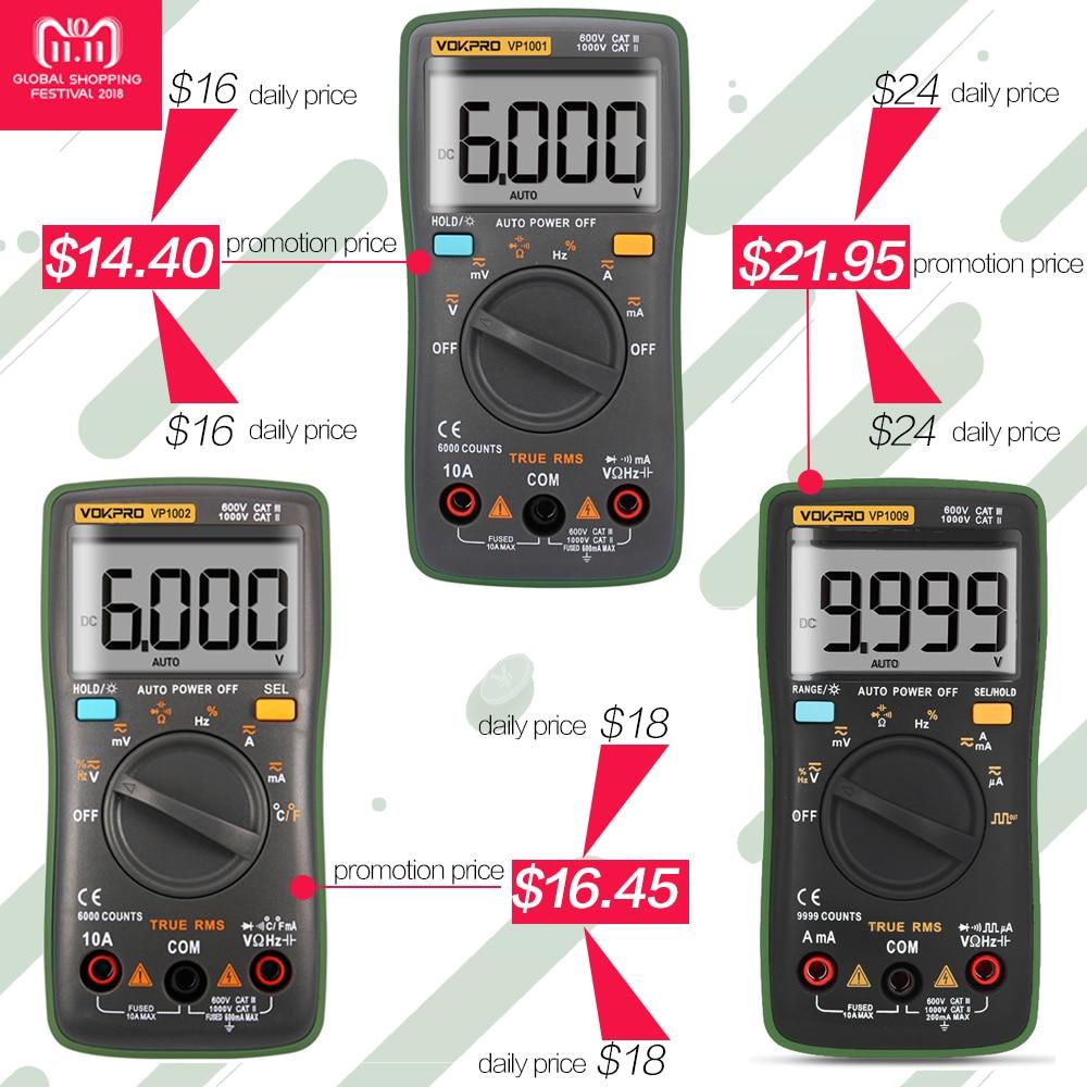 medium resolution of digital tester multimeter 6000 counts electric meter voltmeter ammeter auto range car detector leads for multimetro true rms in multimeters from tools on