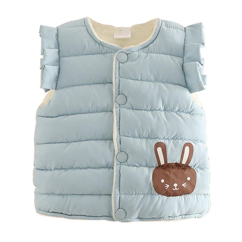 Girls Thicken Vest Fashion Winter Cotton Padded Waistcoat Kids Warm Vest Children 2019 Autumn 2 8T Kids Vest Padded Coat