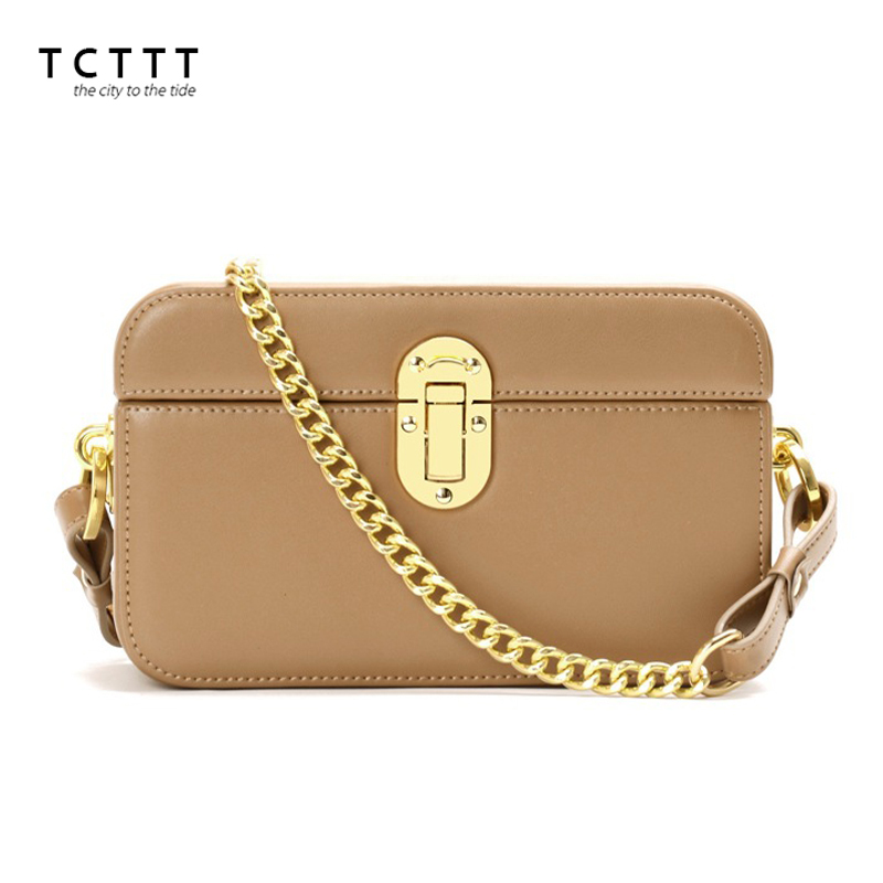 TCTTT High Quality women's Shoulder bags Vintage chain leather women Crossbody Handbag Casual Luxury designer Fashion Female bag tcttt luxury handbags women bags designer fashion women s leather shoulder bag high quality rivet brand crossbody messenger bag