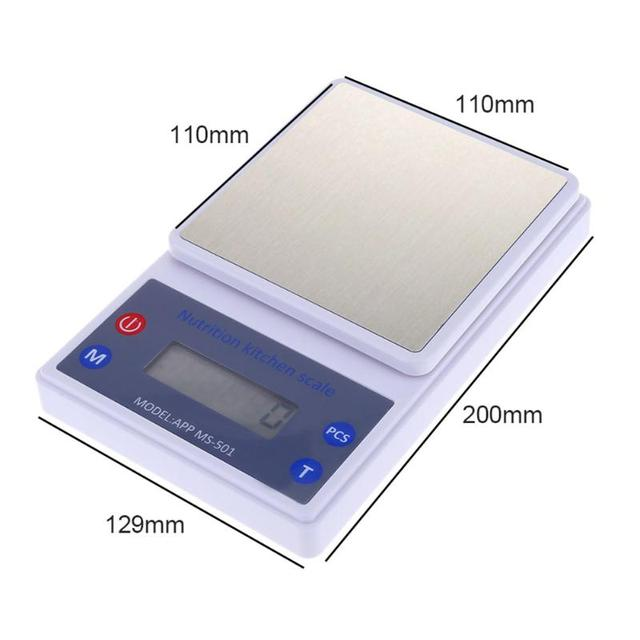 Stainless Steel Digital Scale Electronic Scales Steelyard Smart Kitchen Postal Food Bluetooth Nutrition Weight Libra