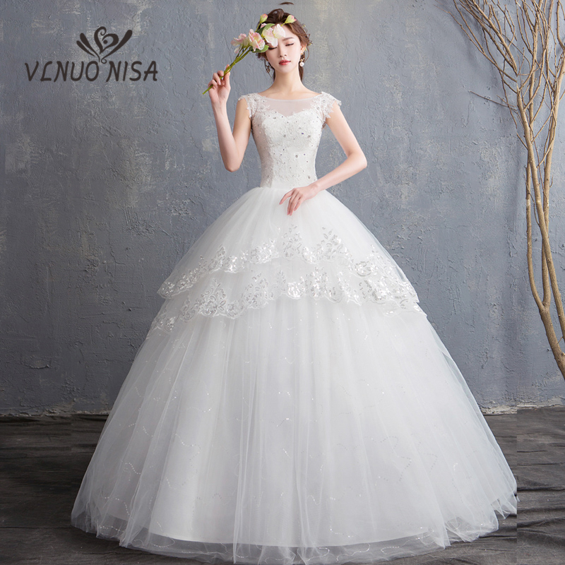 Summer Vintage Wedding Dresses: Lace Sequined Musilin Sweetheart Wedding Dress New Fashion