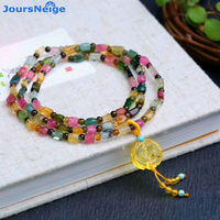 Fine Beautiful Design JoursNeige Natural Tourmaline Stone Bracelets Yellow Ore Flower Lucky for Women Fashion Bracelet Jewelry