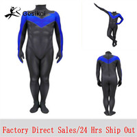 Kids Men Nightwing Cosplay Costumes Nightwing Halloween Party Male Bodysuits Jumpsuits