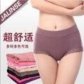 Mujeres libres del envío modal underwear de panty mediados de cintura alta más tamaño hembra niñas de algodón briefs 100% TAMAÑO Sml XL XXL XXXL 4XL R0