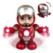 6.1 Children's Day Gift to children Avengers marvel ironman Dance Iron Warrior Robot Lighting Music Electric Toy DANCE HERO
