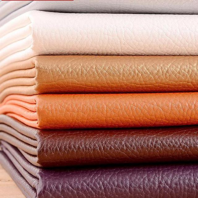50x69cm Pu Synthetic Leather Material Leather Upholstery Fabric For