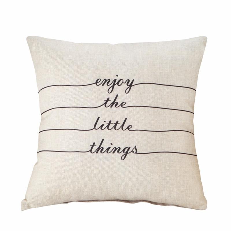 Купить с кэшбэком RUBYLOVE Modern Simple Geometric Cotton Linen Cushion Cover Decorative Pillowcase Home Decor Sofa Throw Pillow Cover 45x45cm