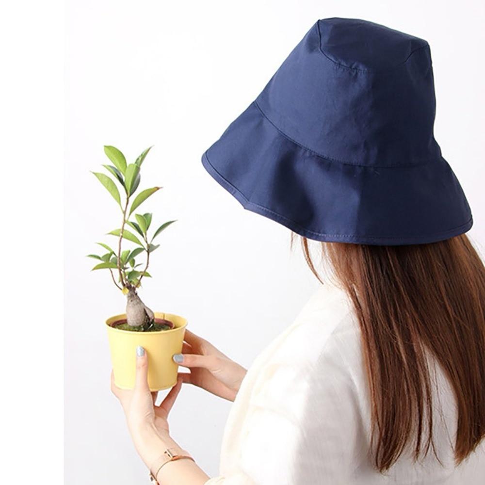 Bucket Hats Men Women Adult Cotton Wide Brim Flat Top Fisherman Golf Cap Bucket Hat For Women Summer Travel Neutral Shade Hat W2