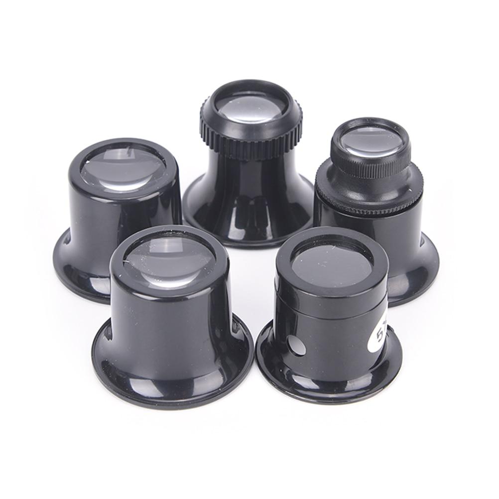 Portable 5X 10X 15X 20X  Monocular Magnifying Glass Loupe Lens Jeweler Watch Magnifier Tool Eye Magnifier Len Repair Kit Tool