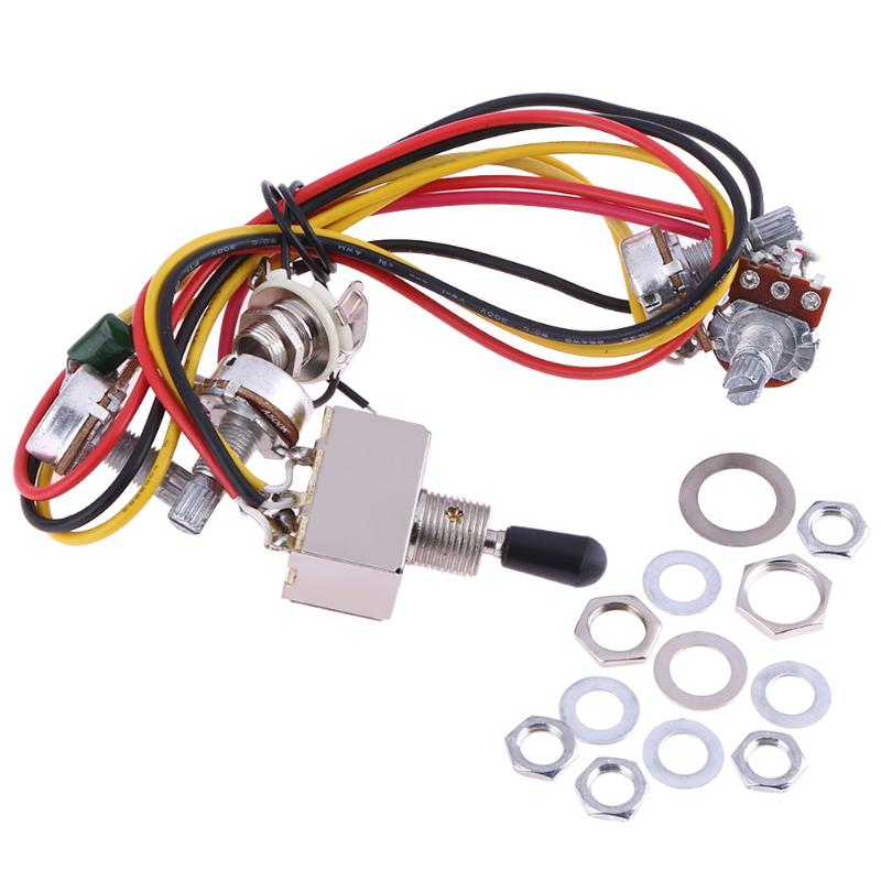 1 Set Electric Guitar Wiring Harness Prewired 2 Volume 2 Tones 3 Way A Jumbo Wiring Harness on