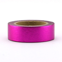 NEW 1X  High quality solid color foil purple washi paper tape 15mm*10m japan masking