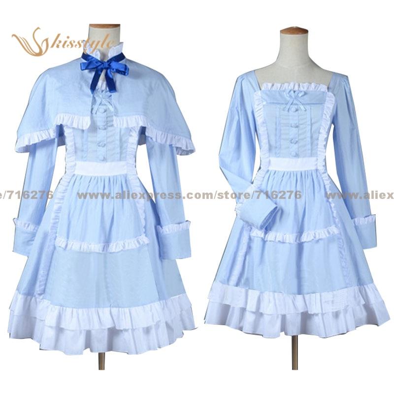 Kisstyle 패션 다른 메이 미사키 LO 블루 드레스 망토 유니폼 COS 의류 코스프레 의상, 맞춤 허용