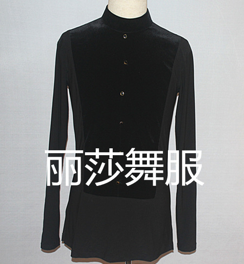 sexy New Ballroom Dance Top Latin Dance Clothes For Men