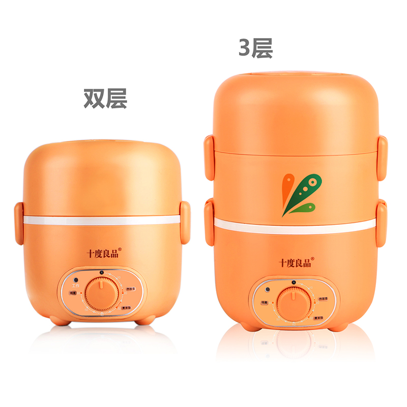 Electric Lunchbox Heating Three Layers Stainless Steel Insulation Timing Cooking Vacuum Preservation 2.2L 1-2 People insulation cooking electric lunchbox heating stainless steel liner three layers micro computer type reservation 2l 1 2 people