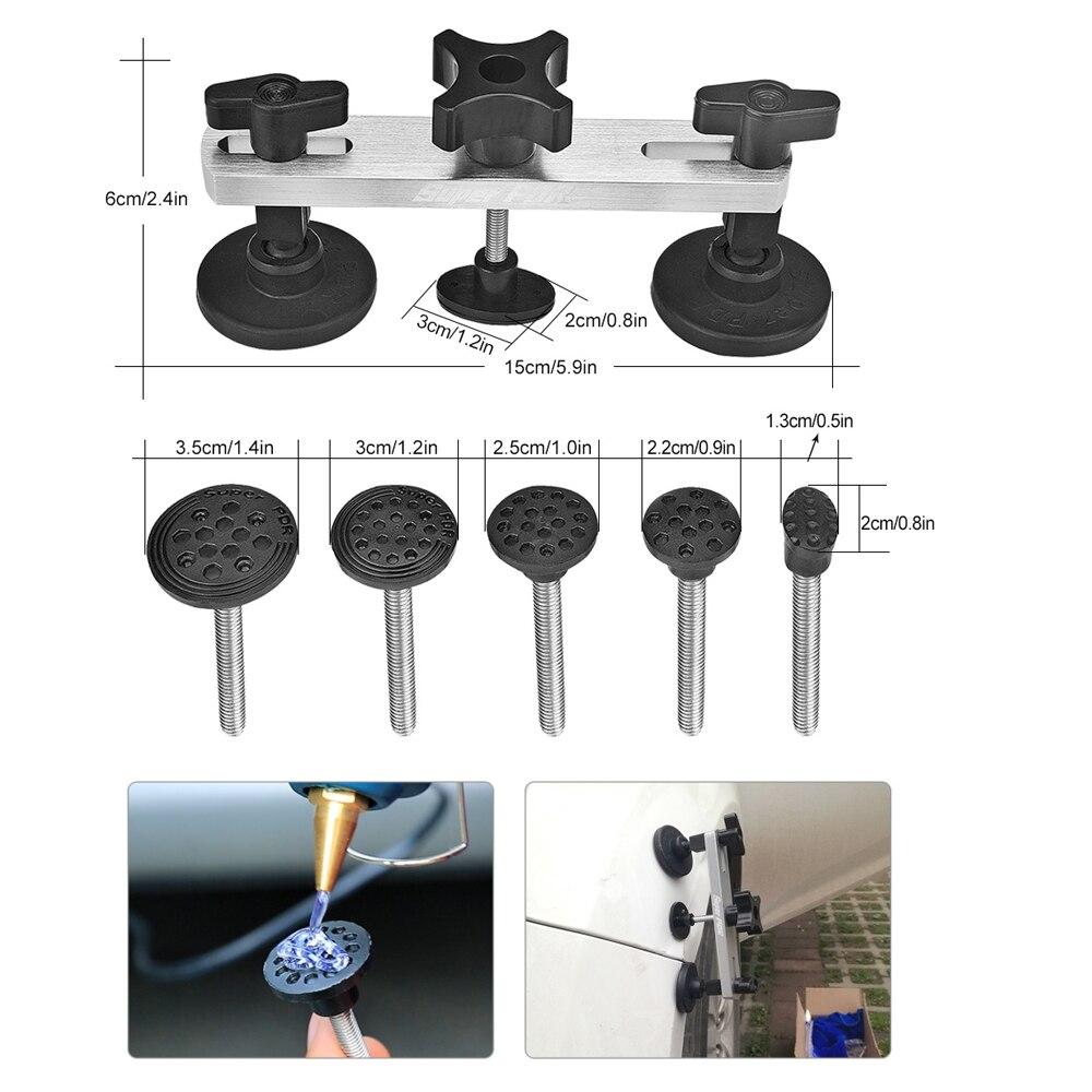 PDR инструменты для удаления вмятин безболезненный набор инструментов для удаления вмятин набор инструментов для ремонта автомобиля отражатель вмятин Съемник присоски клеевые вкладки - 4