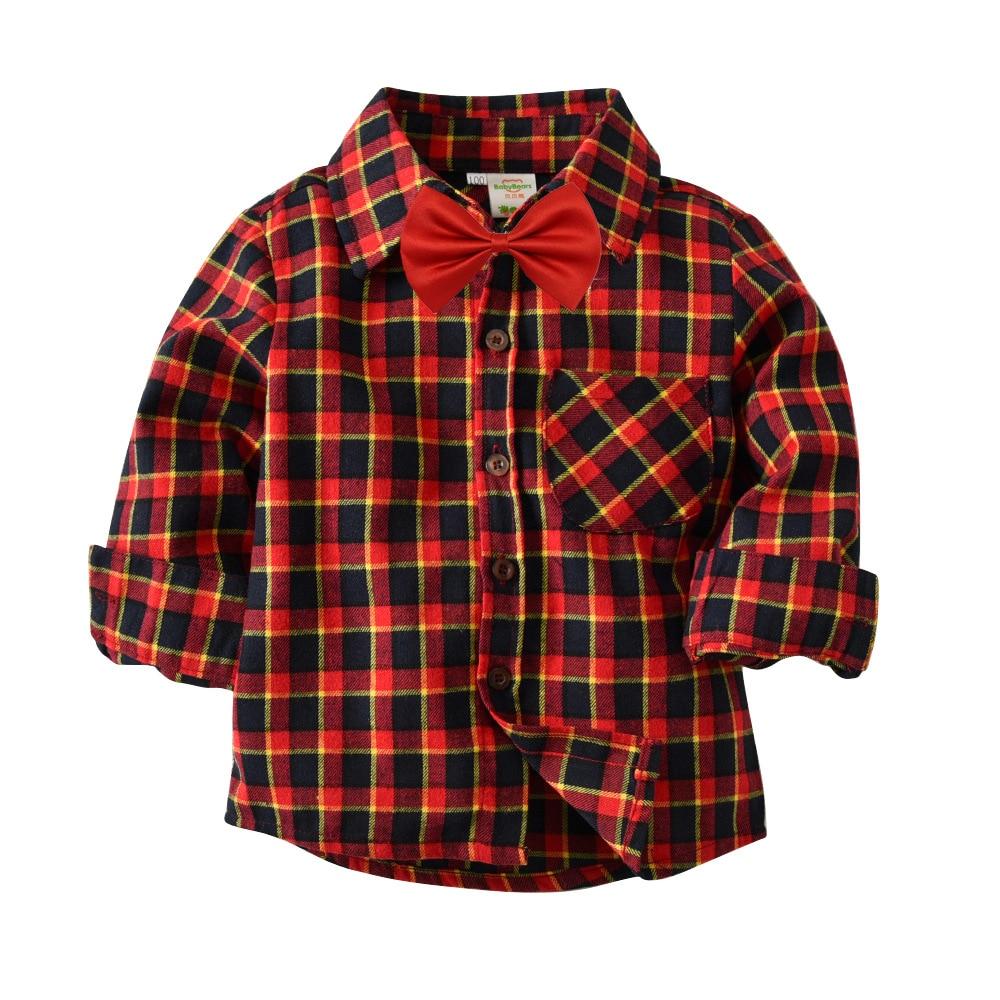 Jungen Kleidung Ausverkauf 2019 Frühling Summet Plaids Prüft Bluse Baby Kinder Jungen Mädchen Langarm Gestreiften Hemd Kleidung Outfit Rheuma Und ErkäLtung Lindern