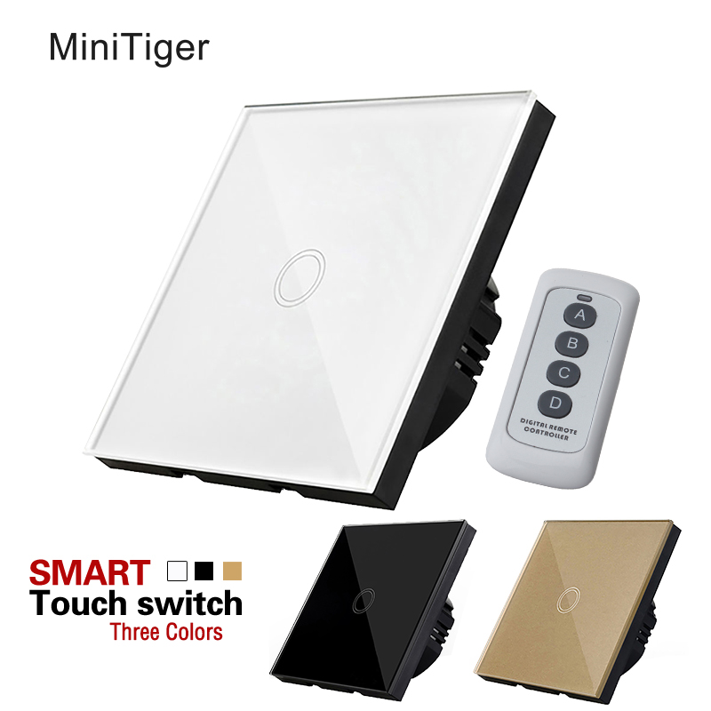MiniTiger EU/UK Standard 1 Gang 1 Way Remote Control Switch,Wireless Remote Control Light Switch,Light Touch Switch suck uk