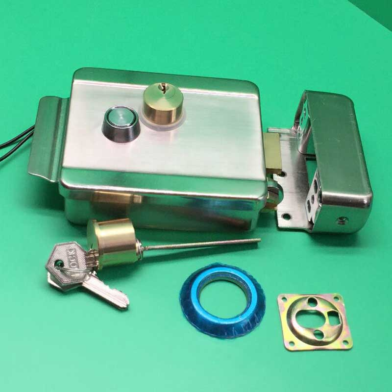 Electric Anti-theft Control Release Rim Door Lock Fail Secure Steel Stainless. 3502080 canemu anti theft simulator