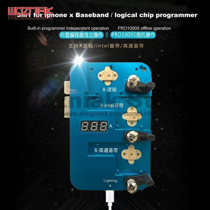 PRO1000S for iPhone 4 5 6 7 8 8p x xr xs xsmax logic / baseband CHIP read write programmer Off