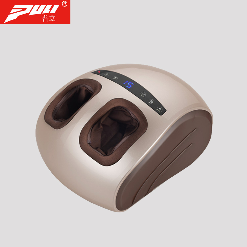 Foot Massage Electric Vibrator Health Care Massager Infrared Heating Therapy Shiatsu Kneading Air Pressure Machine + Foot airbag electric foot massager foot massage machine for health care personal air pressure shiatsu infrared feet massager with heat 50030