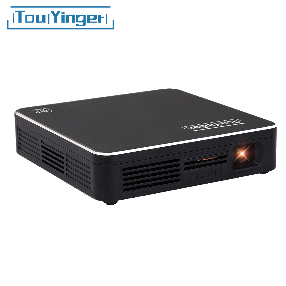 Touyinger S7 DLP Pocket Projector USB Mirroring Portable Smartphone Projector Home Theater Support 1080p Video Beamer
