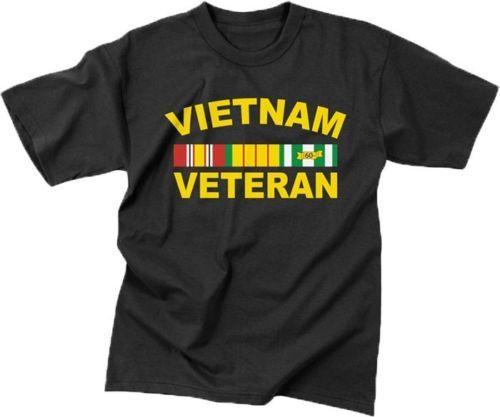 new style 9b51c 1934f Neue herren Kurzarm Schwarz Vietnam Veteran War Tierarzt Militär T Shirt  Lustige shirts Tops Hoodies
