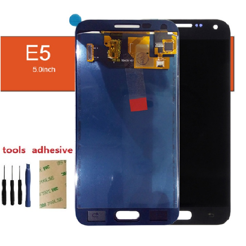 For Samsung Glaxy E5 E500F E500H E500M E500FN Display LCD Screen Touch Digitizer Sensor Glass Panel Assembly + Adhesive + Kits ...