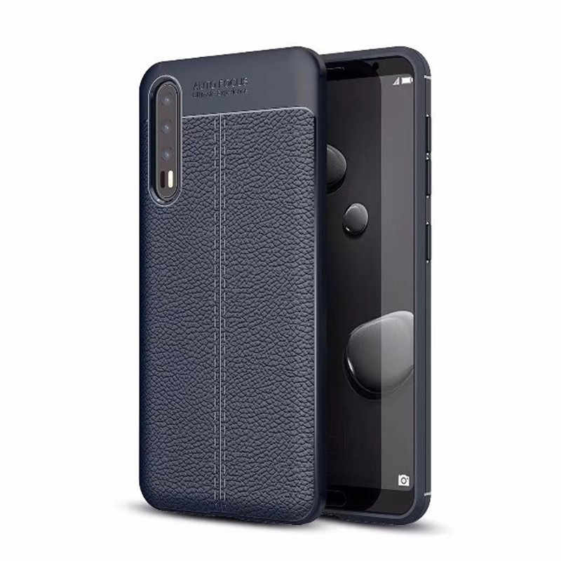 Marchio di lusso Antiurto Cassa Dell'armatura per Huawei P20 Coque Fundas Copertura Del Silicone di TPU per Huawei P20 PRO Caso In Fibra di Carbonio