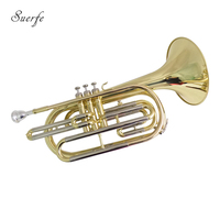 Bb Key Marching Trombone with Hard Case Brass Body Lacquer Surface Wind Musical Instruments Professional