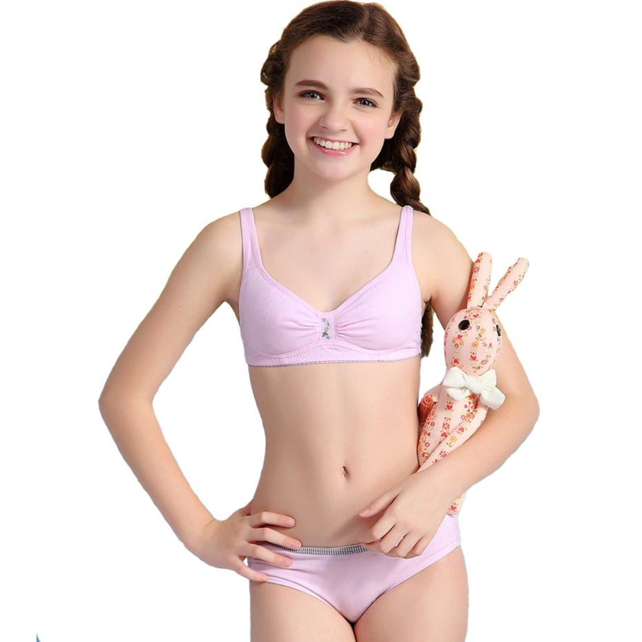WoFee Young Girl First Time Thin Cup Cotton Training Bra With ...