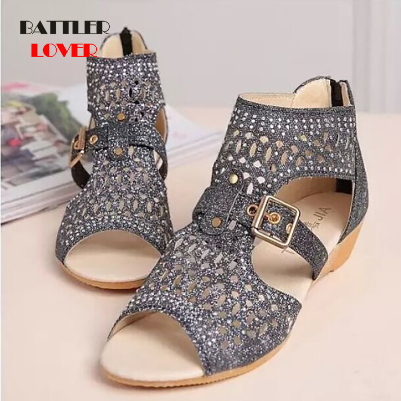 Sandals Women Sandalia Feminina 2019 Casual Rome Summer Shoes Fashion Rivet Gladiator Sandals Women Femme Sandalia Mujer Ladies