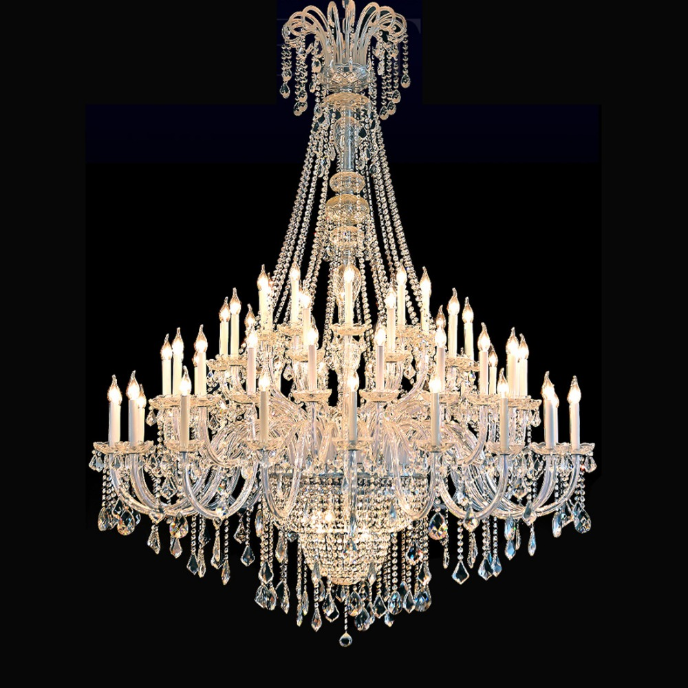 Aliexpress Large Chandeliers For Foyer Crystal Chandelier Living Room Modern Hotel Lobby Decorative Lighting From
