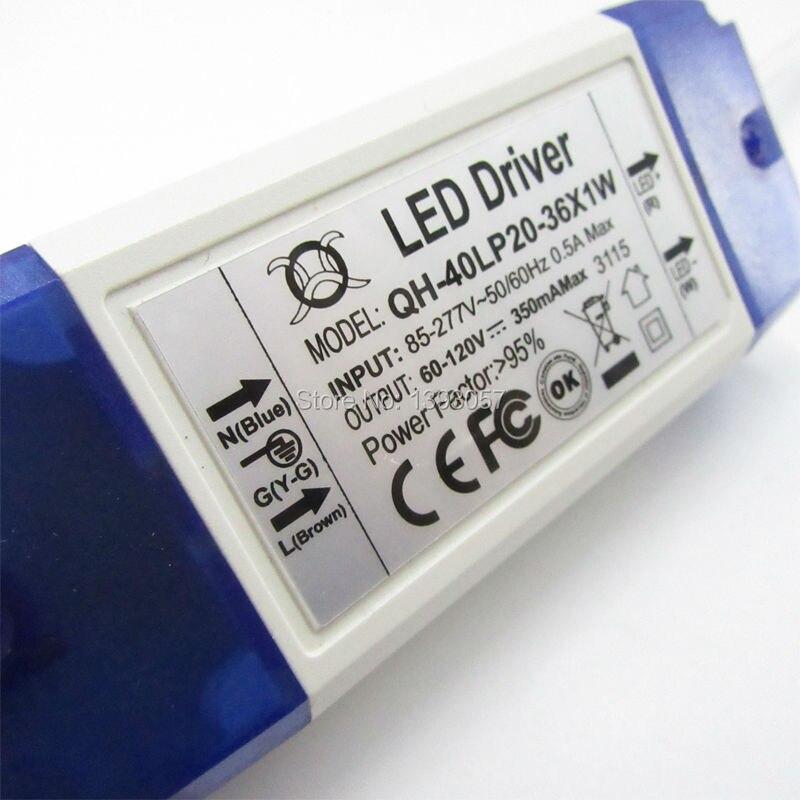 1бр 20W 30W 40W LED драйвер 20-36x1W 300mA DC60-120V с - Аксесоари за осветление - Снимка 2
