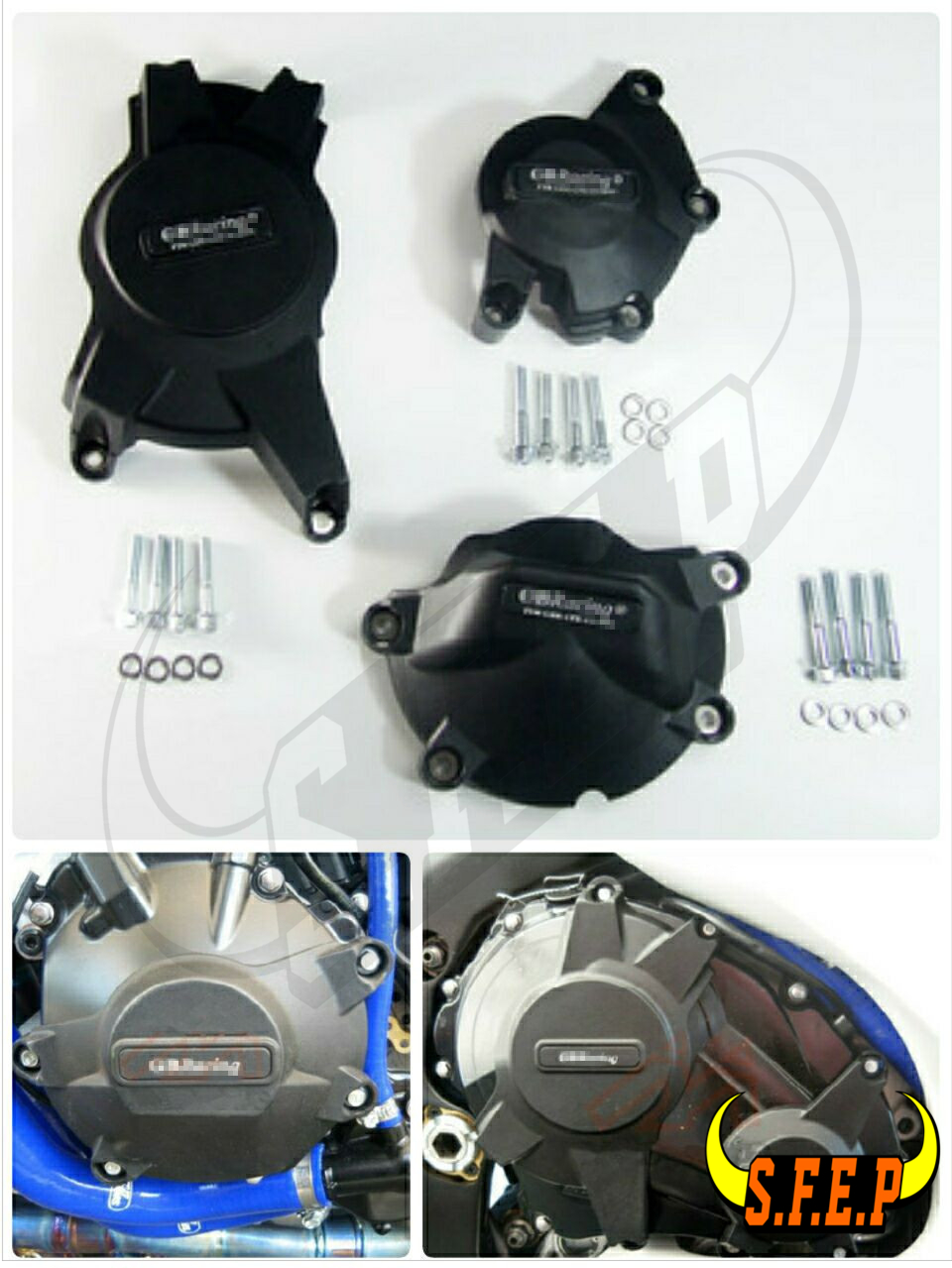Motorcycle Engine Case Guard Protector Cover GB Racing For Suzuki GSXR1000 K9 L6 2009 2010 2011