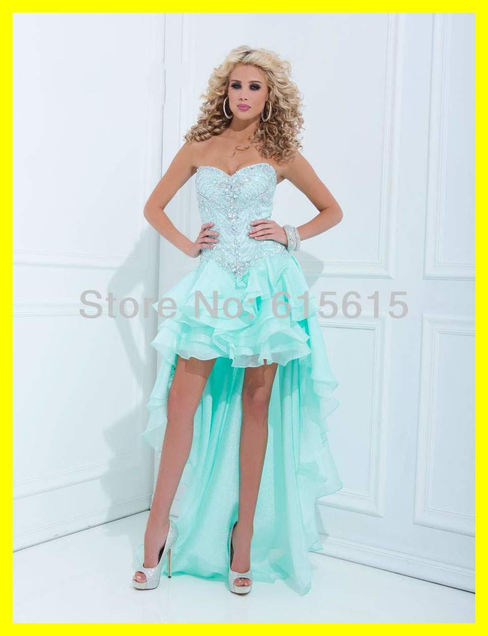 Shop For Prom Dresses White Long Gold Dress Teens Puffy Asymmetrical ...