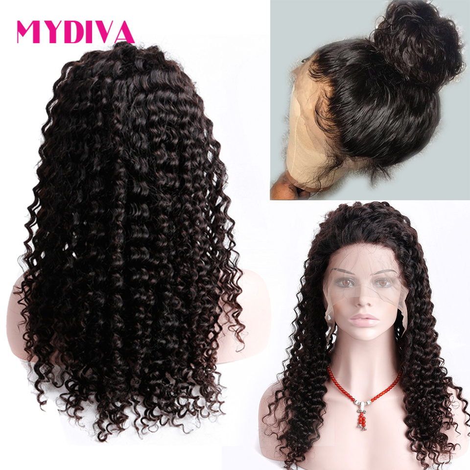 360 Lace Frontal Wig Pre Plucked With Baby Hair Brazilian Deep Wave Lace Front Wig For Women Natural Black Remy Human Hair Wigs