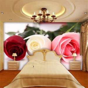 Fondo de pantalla de TV de beibehang moderno romántico cuadro de rosas la sala de estar restaurante estereoscópico 3d papel tapiz de pared de vídeo