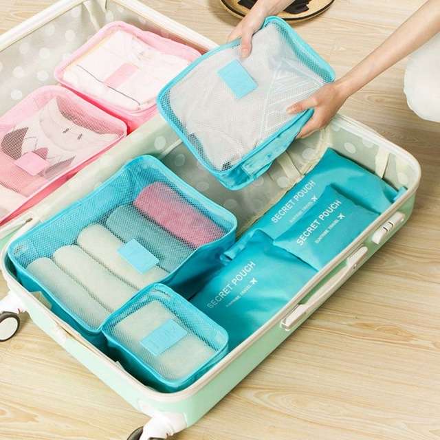 7PCS Storage Bag Set Waterproof Clothes Underwear Organizer Pouch Portable Suitcase Closet Divider Container Organiser Travel