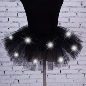 Image 4 - Sexy Girls Light Up LED Tutu Stage Vũ Tutu Ngắn Mini Skirt Dancewear Evening