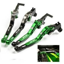 цены на For Kawasaki ER 6 N ER 6N ER6 N ER6N 2006-2008 2009-2017 Motorcycle Brake Clutch Levers CNC Adjustable Folding Extendent Parts  в интернет-магазинах