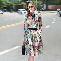 OLN Clearance 2018 Summer women's sets shirts+skirt suits two-pieces fashion vestidos suits runway white print designer 2/pcs XL