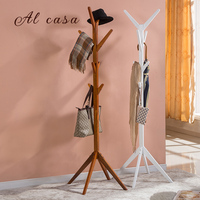 coat hat solid wood rack stands clothes shelf tree style
