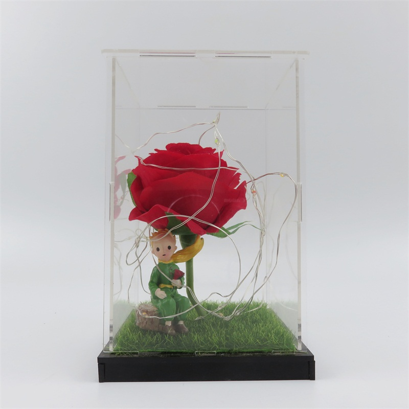 DIY Material Package Resin The Prince With Rose Figure Led Lights  Home Decoration Wedding Gifts Valentine's Day Christmas Gifts