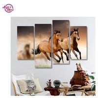 ANGEL S HAND Home Beauty 3d Diy Horse Full Diamond Painting Embroidery Kits Crystal Rhinestone Picture