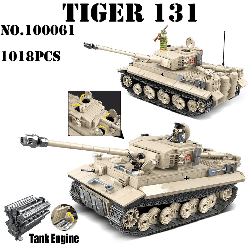 Assemble 3D Classic WW2 Tiger I Tank 181 Military Soldier Building Blocks Toys Educational Gifts Model Compatible Legod Kids ToyAssemble 3D Classic WW2 Tiger I Tank 181 Military Soldier Building Blocks Toys Educational Gifts Model Compatible Legod Kids Toy