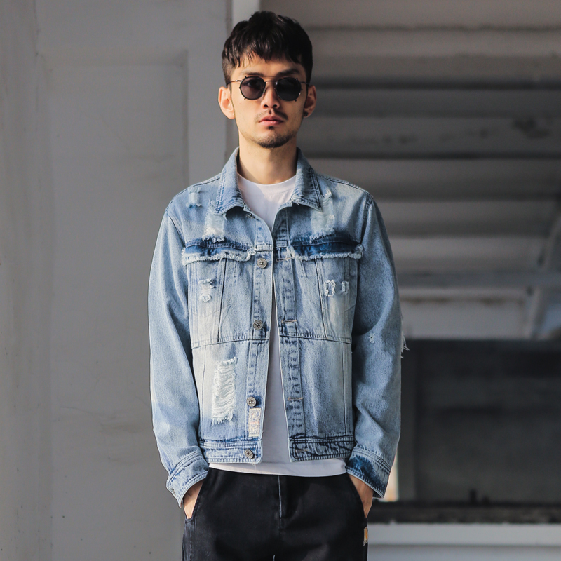 denim jacket men picture more detailed picture about new