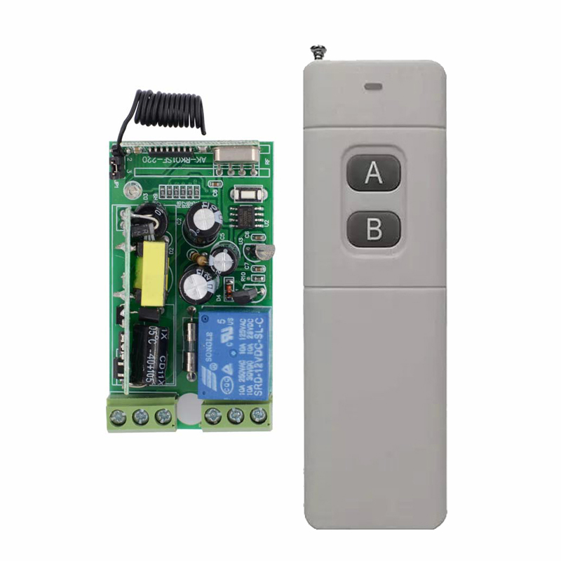 AC110V 220V 230V 250V Wireless Remote Control switch 10A Relay Receiver Transmitter For Lamp/Light LED  Long Distance 200M-3000M ac 85v 250v wireless remote control switch remote power switch 1ch relay for light lamp led bulb 3 x receiver transmitter