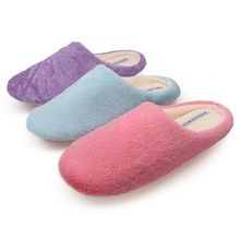 RASS PLE Soft Plush Cotton Cute Slippers Shoes Non-Slip Floor ,Indoor House ,Home Furry Slippers Women Shoes For Bedroom