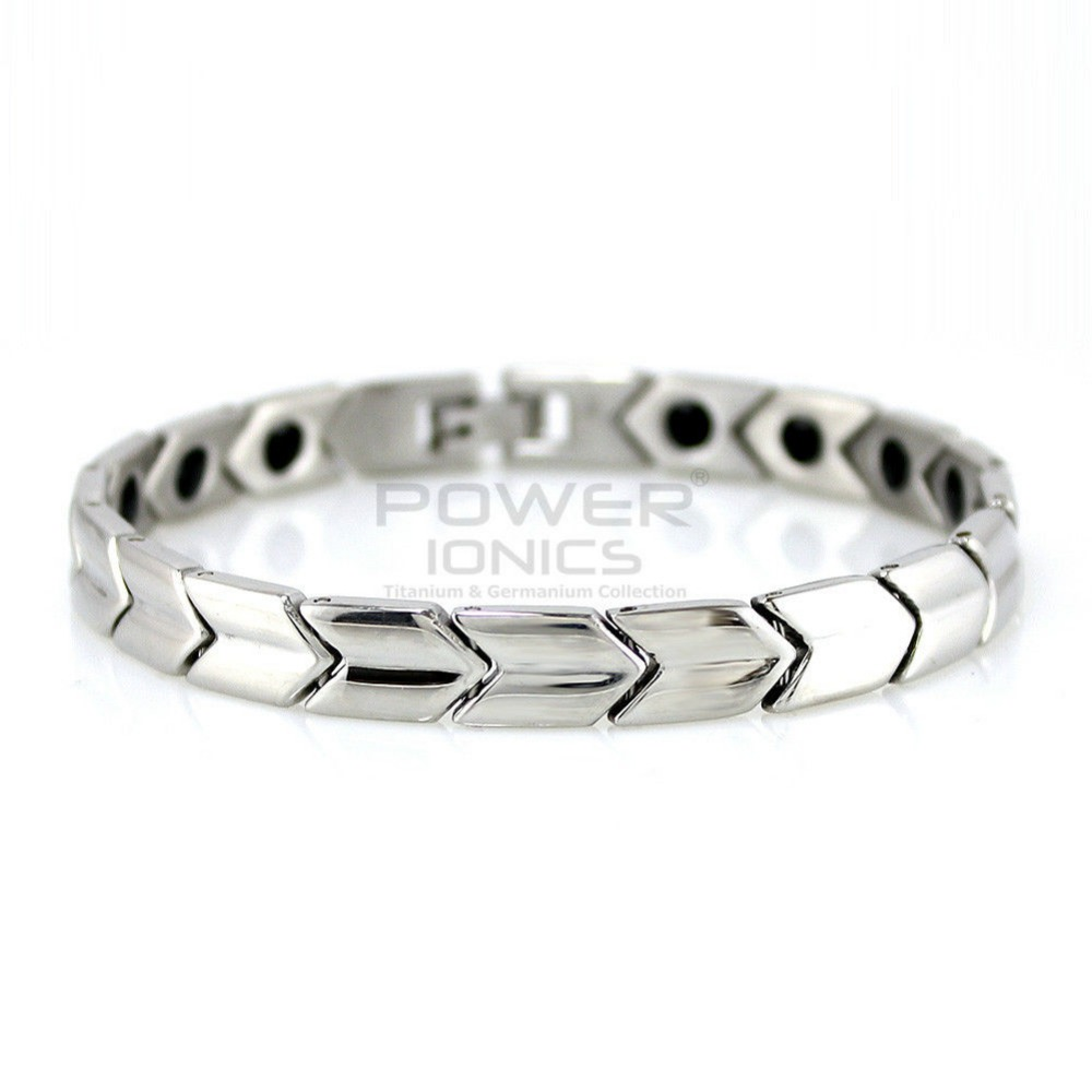 цена на Power Ionics Titanium Germanium Magnetic Bracelet Balance Body PT005